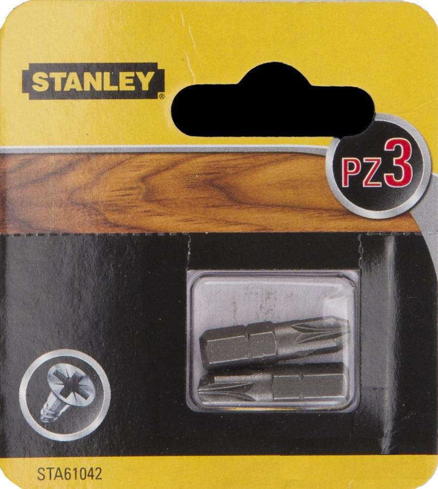 Биты Stanley Pz3 25мм, 2шт