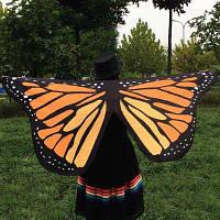 Крылья бабочки Форма шарф Темно-русый