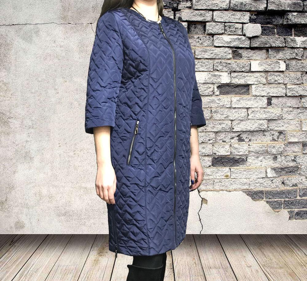 Женская демисезонная куртка-пальто больших размеров от производителя  весна-осень 2019 - OWOD в 753583ed952