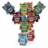 Деревянная Сова Строительный Блок Высокой Свай Дети Образовательные Игрушки Красочный