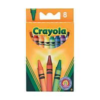 8 цветных восковых мелка карандаша, Crayola