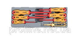 Набор отвёрток диэлектрических, тестер напряжения 7 пр. (88403 F) Force 20718-3 F