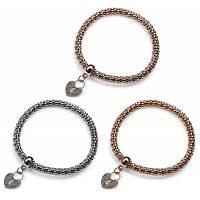 3шт женщин любовь сердце картины искусственного драгоценных камней эластичные браслеты 52252