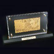 Купюра с золотым напылением UKRAINE 100