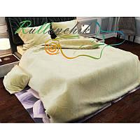 Однотонное желтое постельное белье однотонное
