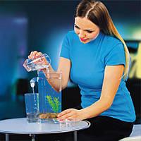 Детский самоочищающийся пластиковый аквариум My Fun Fish с подсветкой 2 л.