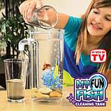 Детский самоочищающийся пластиковый аквариум My Fun Fish с подсветкой 2 л., фото 2