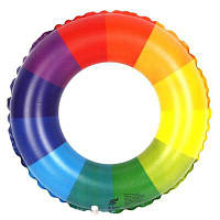 Надувной круг для плавания с радужным узором M