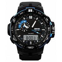 SKMEI 1081 Модные спортивные мужские часы водонепроницаемые японское двойное движение со светодиодной подсветкой 24180