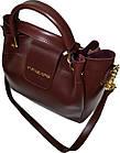 Женская бордовая сумка Michael Kors (26*27*13) , фото 3