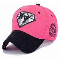 Модный Письмо Вышивка и ромбовидной формы Embellished Sun-Proof бейсболке Розовый