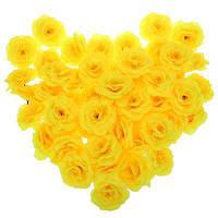 50шт искусственные Розы декоративные цветы Жёлтый