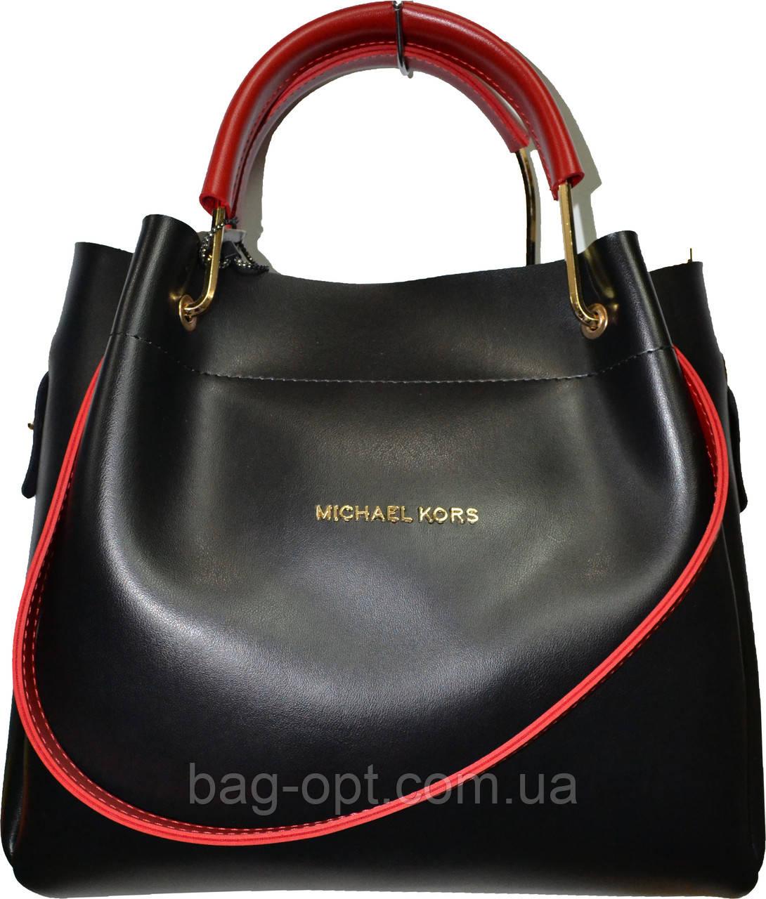 Женская черная сумка с клачем Michael Kors (28*32*14)
