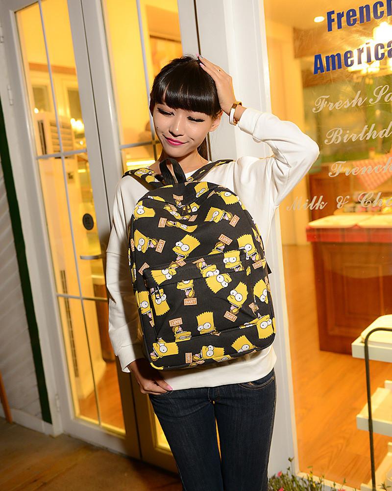 УЦЕНКА! Рюкзак школьный детский-подростковый симпсоны барт bart .