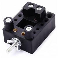 Настольные мини ABS тиски с зажимом и отверстиями для сверления Чёрный