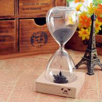 Магнитные песочные часы с расцветающим цветком красивая декоративная игрушка для интеллектуального развития Прозрачный