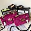 Милейшая сумочка GUCCI GG Marmont бархат 22 см (реплика)