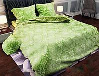 Однотонное салатовое нежное постельное белье