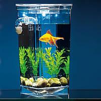 Пластиковий міні акваріум My Fun Fish з підсвічуванням 2 л. з системою самоочищення