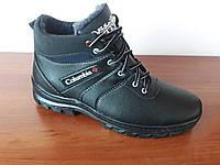 Ботинки мужские зимние черные теплые удобные (код 399), фото 1