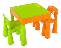 Столик детский со стульчиками Tega Baby Mamut (стол + 2 стула) (оранжевий с зеленым(Orange Green))