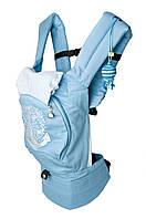 """Эргономический рюкзак """"Якорь"""", кенгуру. С сеточкой для проветривания спинки (голубой) НОВИНКА!"""