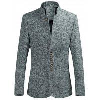Мужской пиджак на пуговицах с мульти воротником-стойкой XL