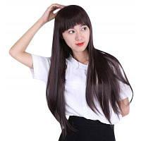 Женщин Натуральный Длинный Прямой Парики Волос Челка Изменены Лицо 20*15*5