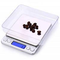 I-2000 Цифровой вес ювелирные изделия кухонные весы Серебристый