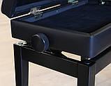 Регульований стілець для піаніно зі сховком HOMCOM, фото 5