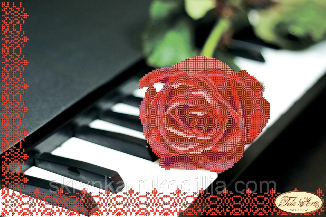 вироби з бісеру роза схема