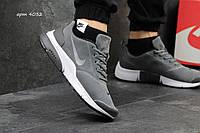 Мужские кроссовки демисезонные Nike Air Presto  замш, серые