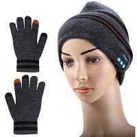 3-в-1 bluetooth для В3.0+EDR стерео наушники вязаная шапка с перчатками Серый
