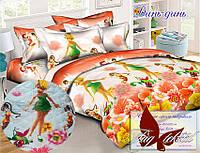 Стеганное полуторное покрывало - одеяло хлопковое Динь-динь