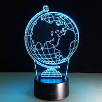 3D лампа-светильник ГЛОБУС, фото 1