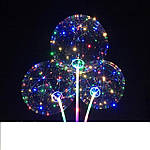Воздушный светящийся прозрачный шарик c подсветкой Led Bobo-balloons 3 режима