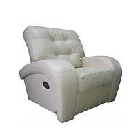 """Мягкое кожаное кресло """"Vincent"""" (Винцент), бежевый (107 см)"""