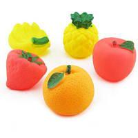 5шт детские игрушки для ванной в форме фруктов 23628