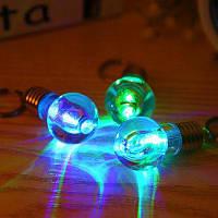 1шт брелок для ключей с кулоном стеклянная лампа с светодиодной подсветкой Цветной