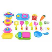 17пк имитации кухня игрушка посуда Цветной