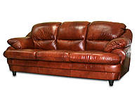 Мягкий кожаный диван Sara, коричневый (205 см)