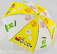 """Детский зонтик трость c ярким рисунками на 4-6 лет от фирмы """"Feeling Rain""""."""