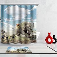 Новинка 3D Животные Игры Цифровая печать Mouldproof Душ занавес для ванной комнаты Красочный
