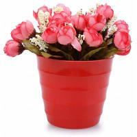 Шелк Искусственный Цветок Украшение Дома Бонсай Тёмно-лососевый