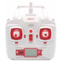 Запасной 2.4G 4 канальный OSD пульт управления для квадрокоптера SYMA X8G Красный с белым