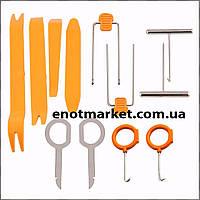 Набор инструментов съемники лопатки для снятия обшивки салона, панелей авто, магнитол, удаления клипс (12 шт.)