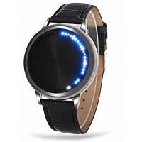 Водонепроницаемые наручные часы со светодиодным сенсорным экраном и кожаным ремешком для часов 24202