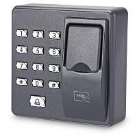 125кГц Контроль доступа к двери RFID терминал учета рабочего времени по отпечаткам пальцев Дымчатый серый