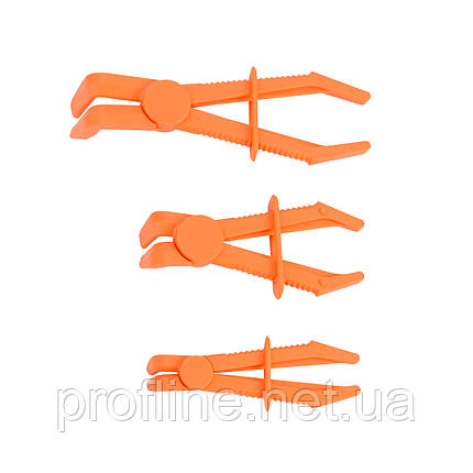 Набор плоскогубых щипцов с фиксатором для пережима шлангов 3 пр. (изогнутых) Force 903G18 F, фото 2