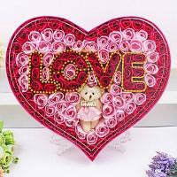 Живое мыло Роза ручной стирки подарок на День Святого Валентина Красный